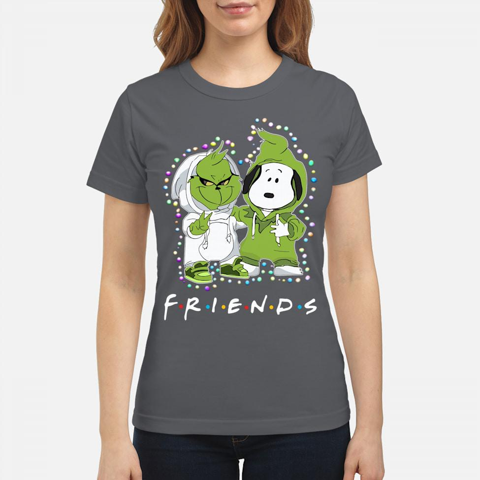 Baby grinch and snoopy friends light christmas shirt