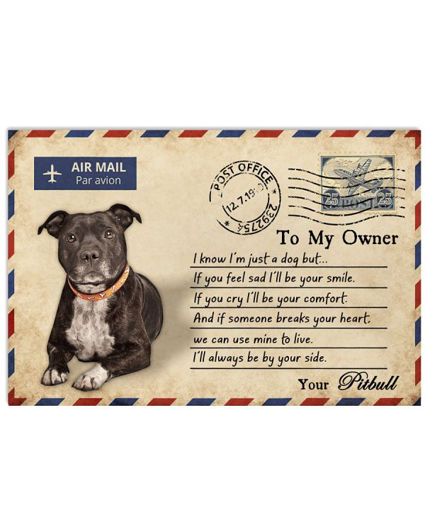 Pitbull-Postcards-To-my-owner-I-know-Im-just-a-dog-but-If-you-feel-sad-Ill-be-your-smile-poster-600x750
