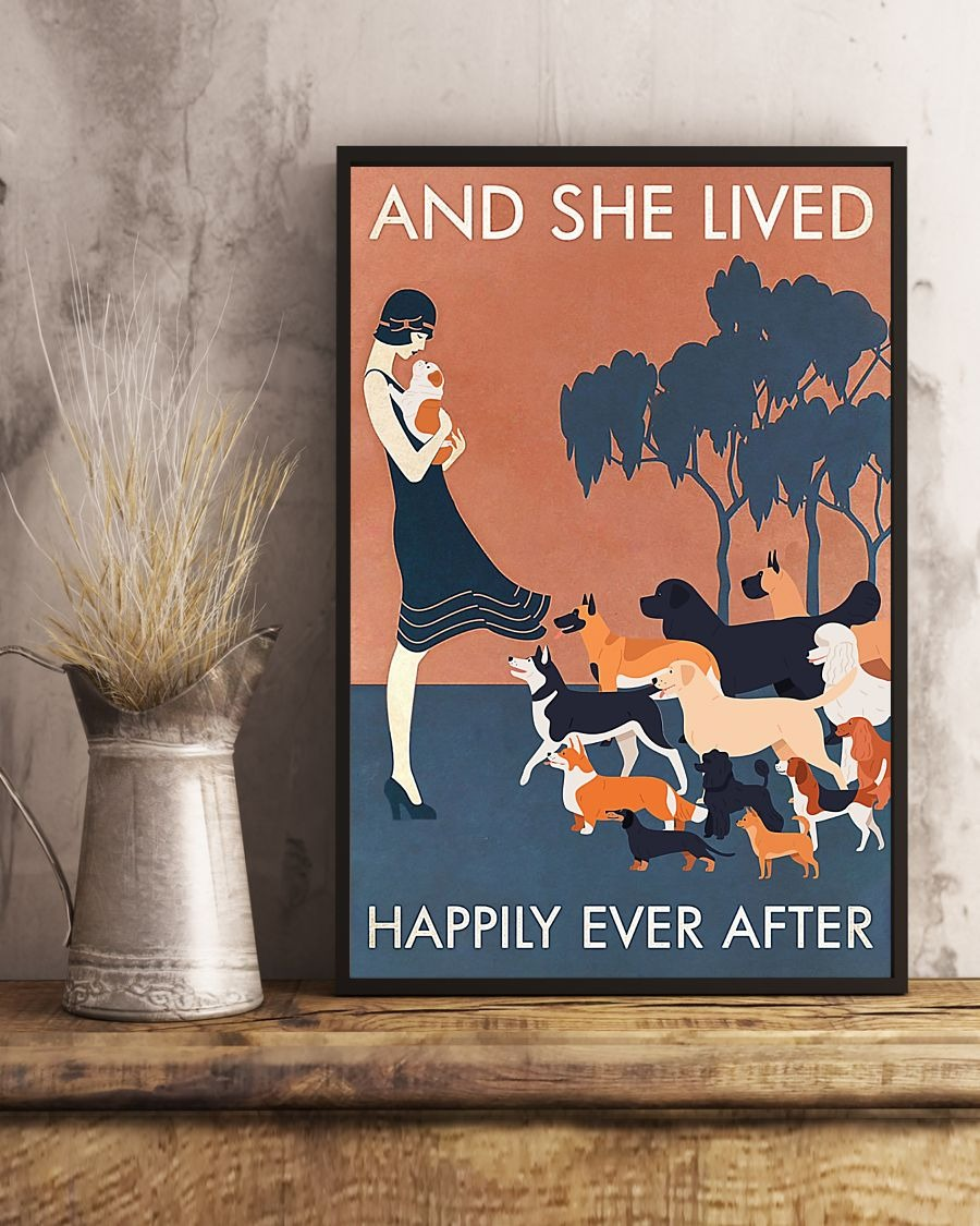 And-she-lived-happily-ever-after-Dog-poster-1