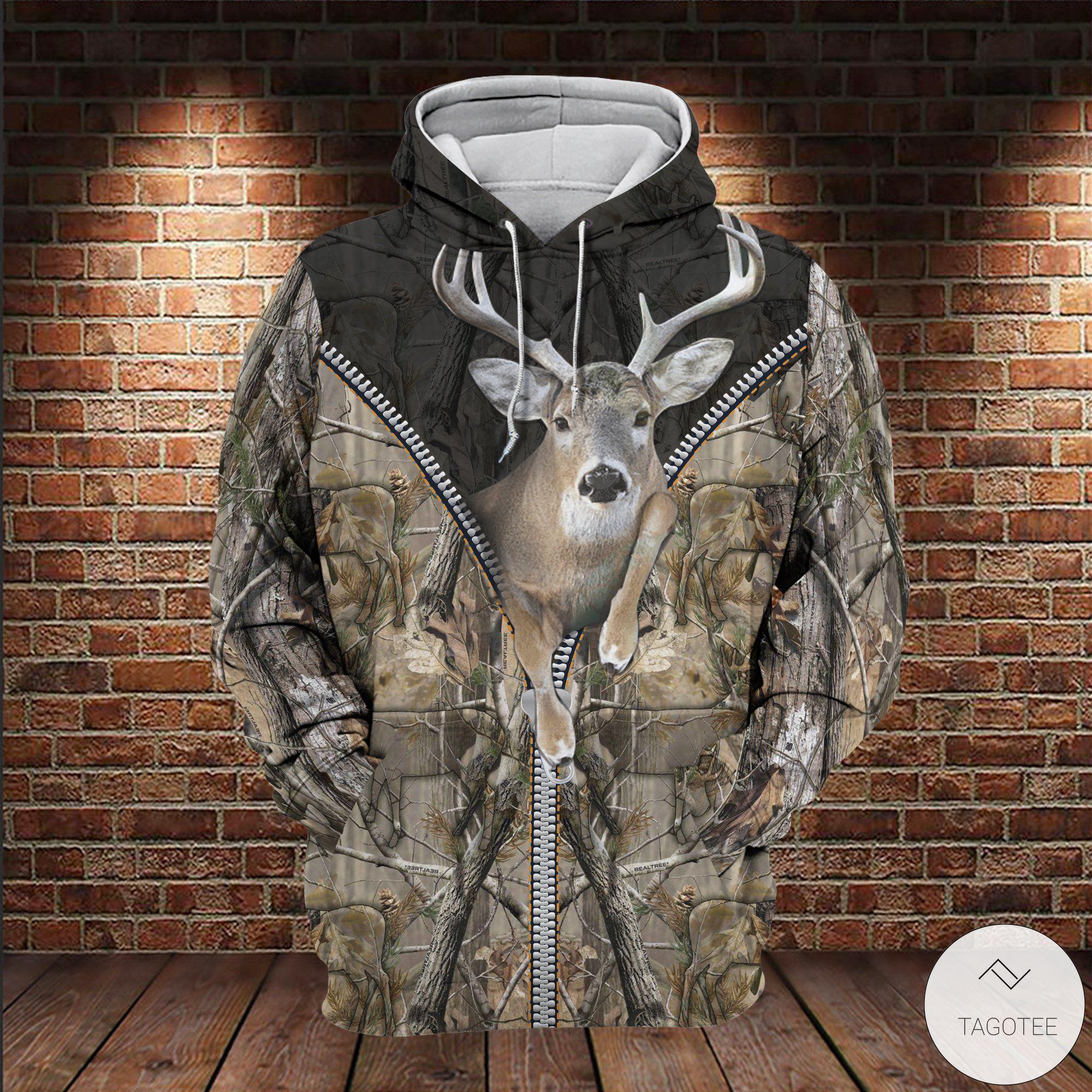 Deer-Hunting-Camouflage-Zipper-3D-All-Over-Print-Hoodie