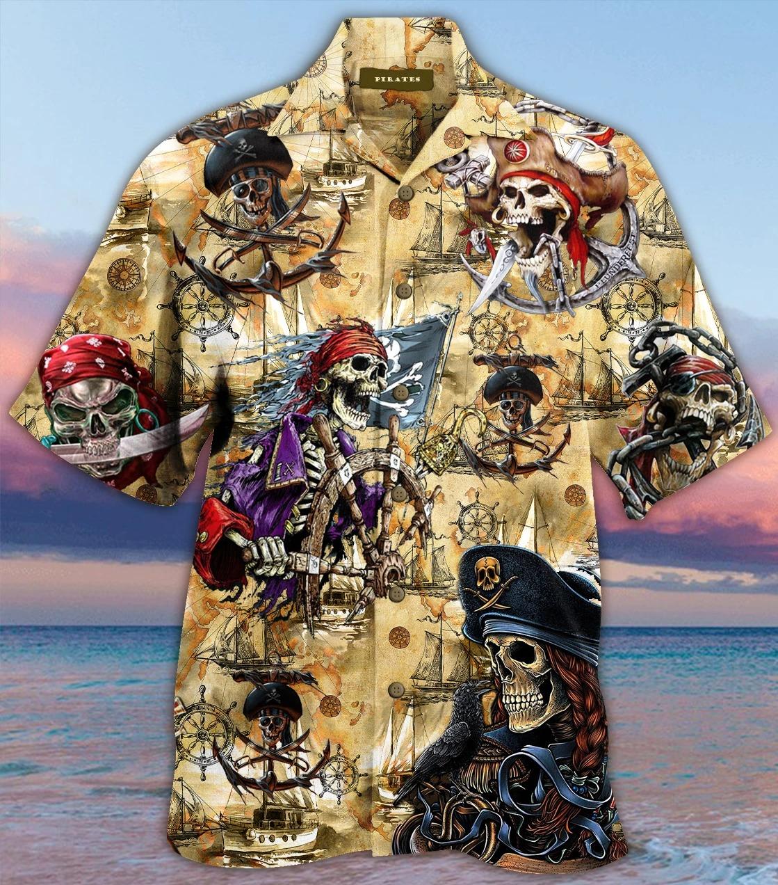 Pirate-Skull-Hawaiian-Shirt