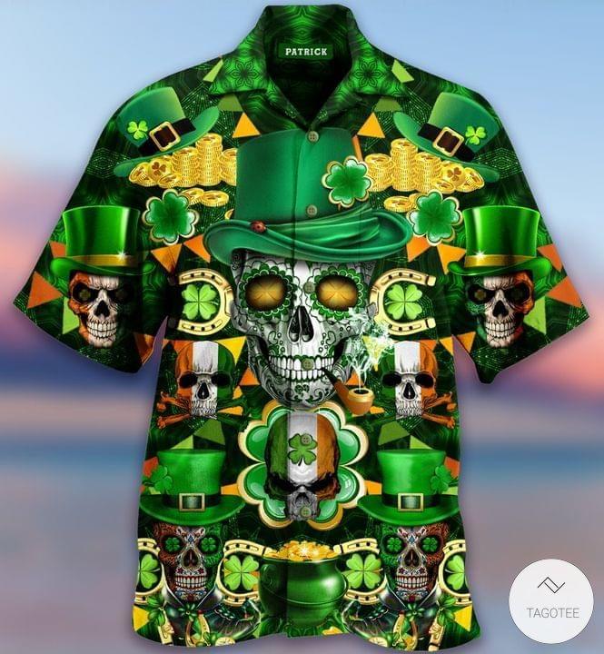 Skull-Saint-Patricks-Day-Hawaiian-Shirt