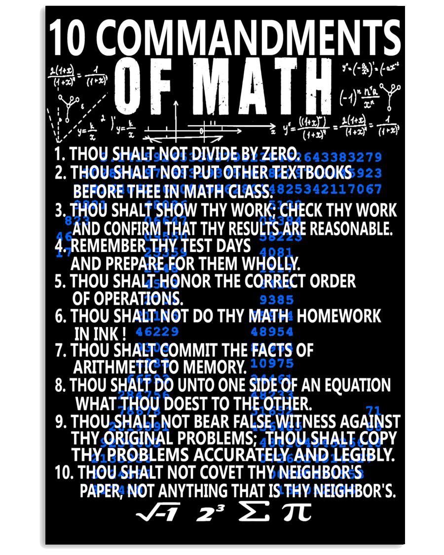 The-Ten-Commandments-of-Math-Poster