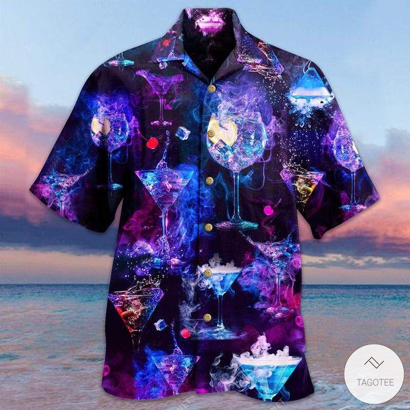 Glowing-Cocktail-Unisex-Hawaiian-Shirt
