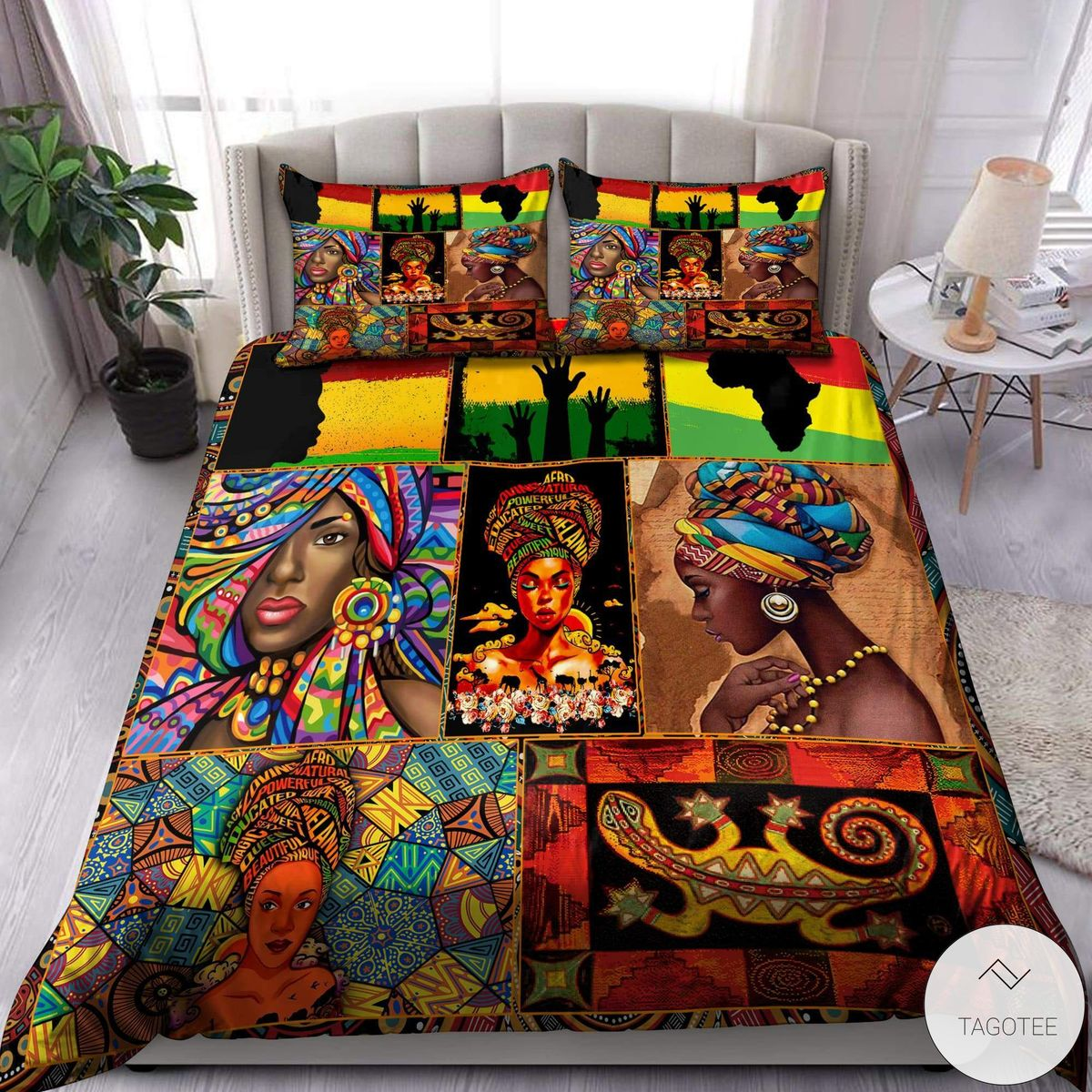 African-Black-Woman-Bedding-Set