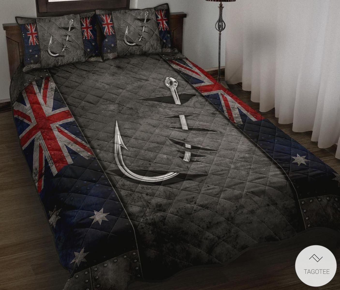 Australian-Fishing-Flag-Quilt-Bedding-Set