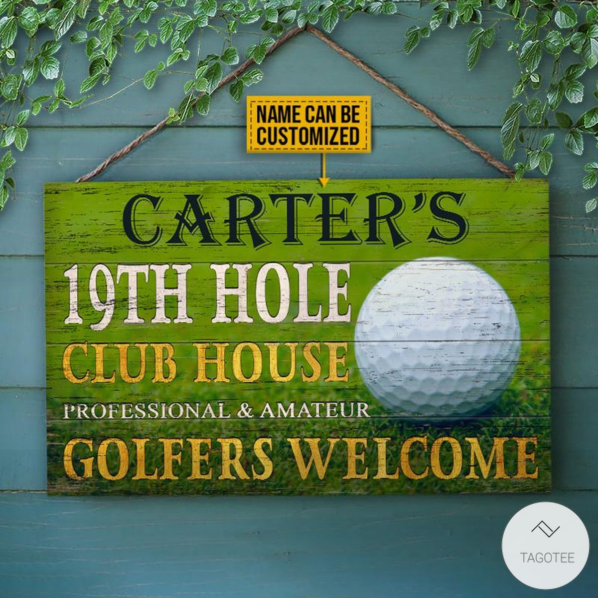 Personalized-Golf-19th-Hole-Club-House-Golfers-Welcome-Rectangle-Wood-Sign-x
