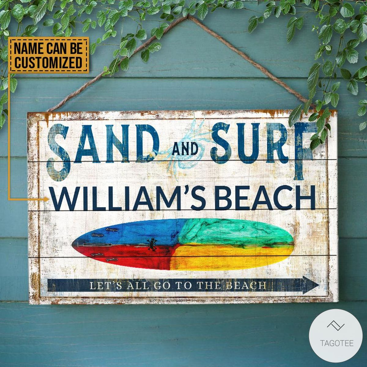 Personalized-Sand-And-Surf-Lets-All-Go-To-The-Beach-Rectangle-Wood-Sign