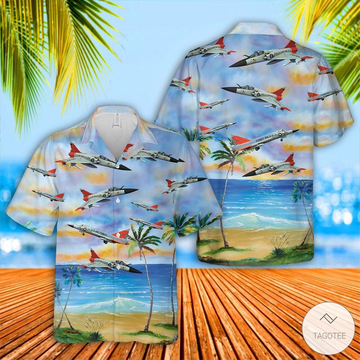 US-Air-Force-Convair-F-102-Delta-Dagger-Hawaiian-Shirt-Beach-Shorts