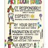 Art Room Rules Artist Poster